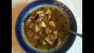 Грибной суп из свежих белых грибов\Mushroom soup with fresh white mushrooms