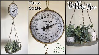 Dollar Tree DIY Farmhouse Hanging Scale |DIY Farmhouse Decor