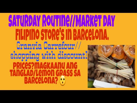 Saturday Routine//Filipino Store//Where We Can Buy Filipino Food In Barcelona?//Shopping.