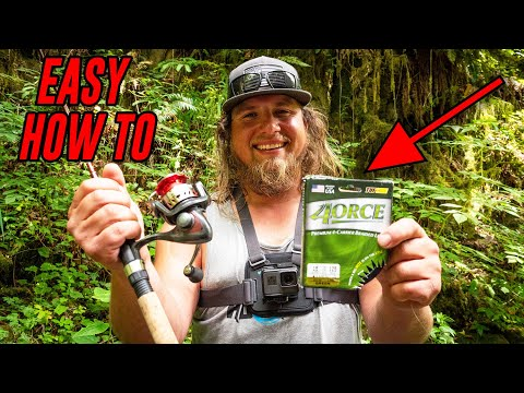 HOW To Put Line On A SPINNING Reel (EASY!)
