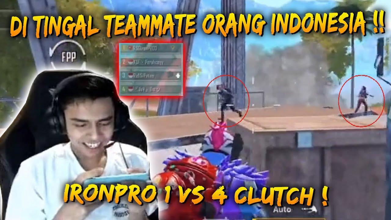 IronPro Di tinggal Sorang Diri Lawan 4 Enemy !! | IronPro Game Play | PUBG Mobile Malaysia