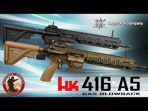 [Review] VFC/Umarex HK416 A5 GBB (2017) - (Heckler U0026 Koch) - 6mm Airsoft/Softair 4K UHD