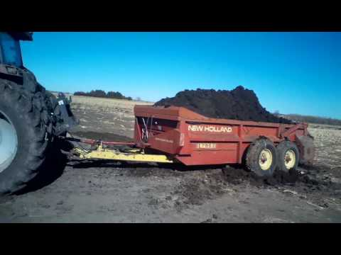 loading and spreading manure