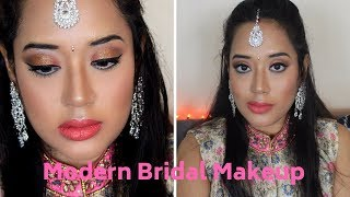 HOW TO:Modern Indian Bridal/RECEPTION/ENGAGEMENT Makeup TUTORIAL II Sweta'sbeautyvanity ll SWETA DAS