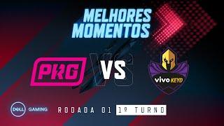 CBLoL 2020: 1ª Etapa - Fase de Pontos | Melhores Momentos PRG x VK (1º Turno) - by Dell Gaming