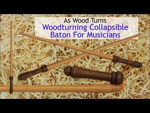 Woodturning Collapsible Baton For Musicians