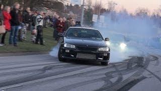 Nissan Skyline R34, 200SX Burnout!