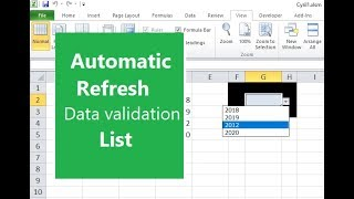Data validation list with UNIQUE values in column - EXCEL