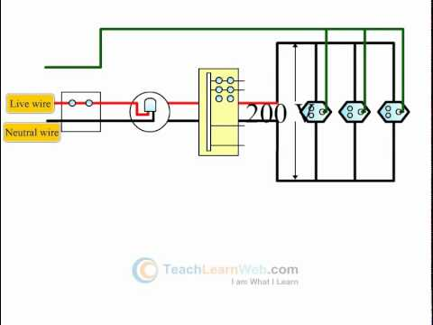 icse science class 10 demo electrical power and household circuits rh youtube com House Wiring Home Wiring Circuit Diagram
