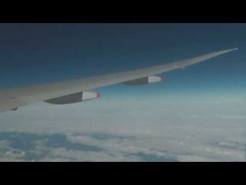 Full flight Timelapse Singapore Changi - London Heathrow Airport Singapore Airlines SQ308