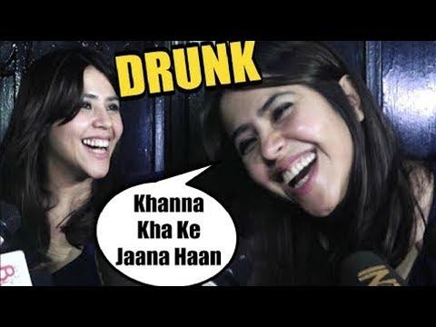 Ekta Kapoor's Complete Drunk Interview With Media