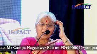 Girls Vs Boys by Smt G Satyavani Speech at IMPACT Tirupati  2017