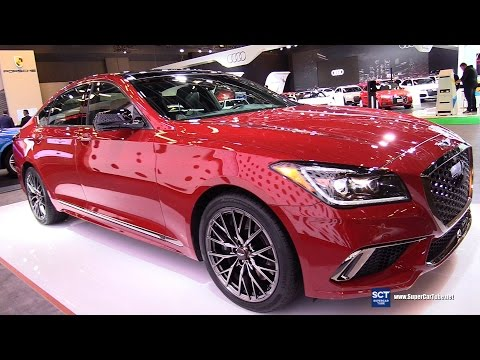 2018 Genesis G80 Sport 3.3T HTRAC Exterior and Interior Walkaround 2017 Montreal Auto Show