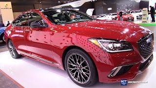 2018 Genesis G80 Sport 3.3T HTRAC - Exterior and Interior Walkaround - 2017 Montreal Auto Show