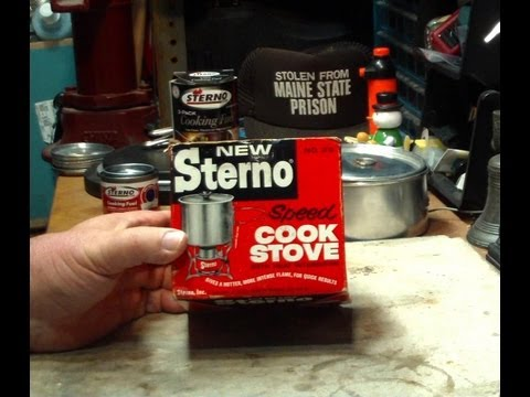 how to make a sterno stove
