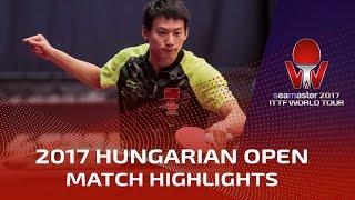 2017 Hungarian Open Highlights: Zhou Yu vs Shang Kun (R16)