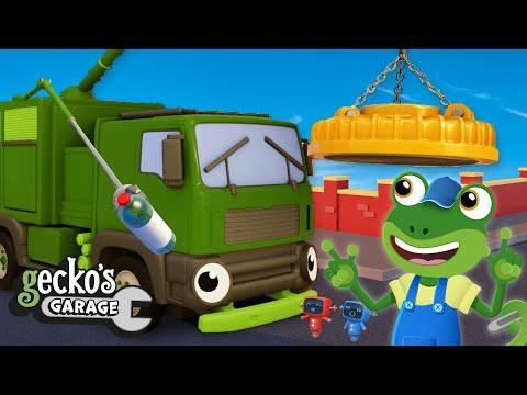 rebecca's-robot-arm-upgrade- -garbage-trucks-for-kids- -gecko's-garage- -educational-videos-for-kids