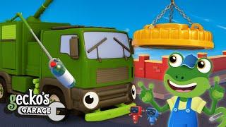 Rebecca's Robot Arm Upgrade | Garbage Trucks For Kids | Gecko's Garage | Educational Videos For Kids