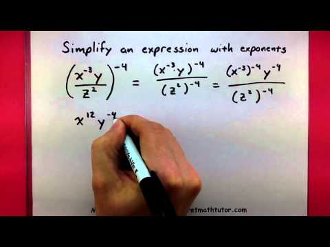 Algebra - Simplify an expression with exponents