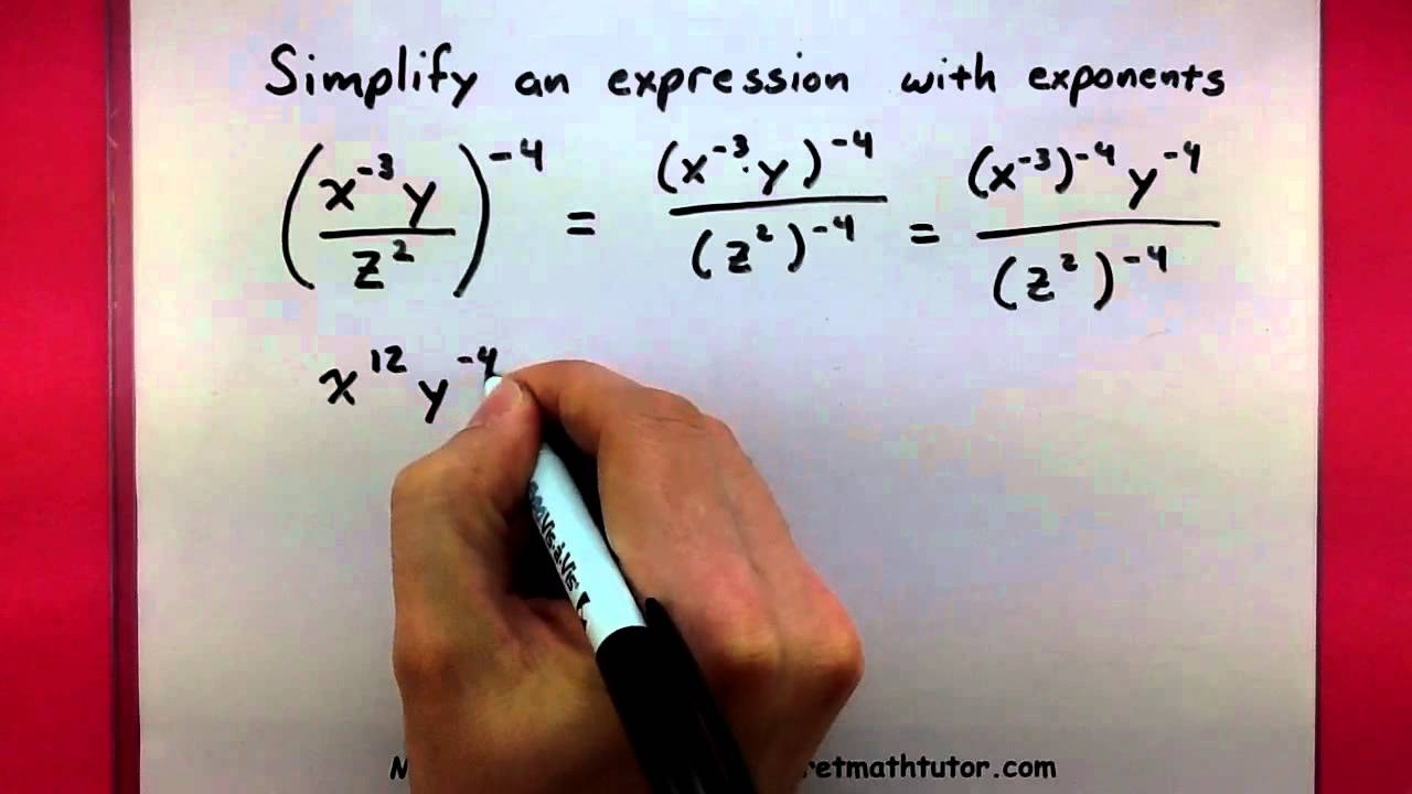 Algebra  Simplify An Expression With Exponents