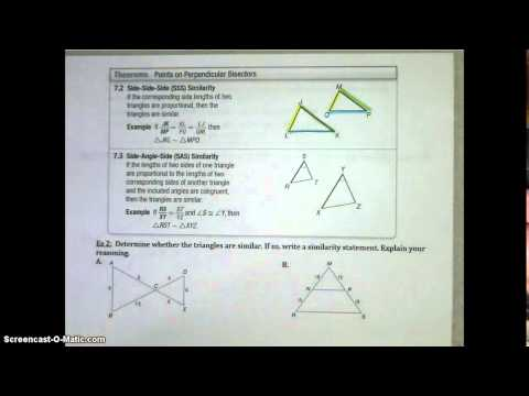 Lesson 7.3 Similar Triangles Video Notes