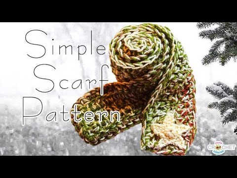 Crochet Scarf Pattern Easy Fast Warm Youtube