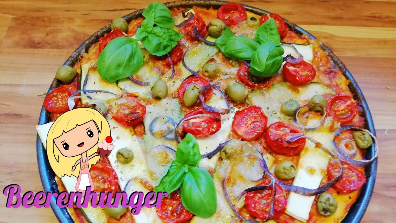 Vegetarische Pizza Vegetarische Pizza Vegi Pizza Beerenhunger
