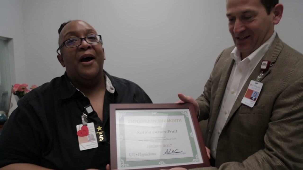 UT Physicians Employee of the Month January 2017