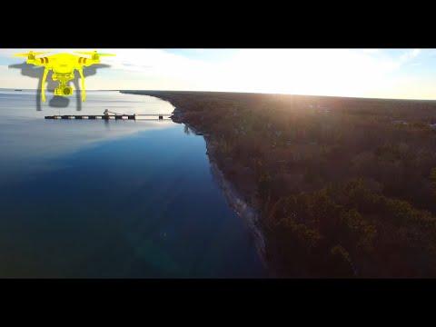 Drone Footage East Tawas Michigan 2 | Lake Huron 4K