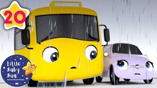 Rainy Storm - Go Buster the Yellow Bus | 20 min of Nursery Rhymes & Cartoons | LBB Kids