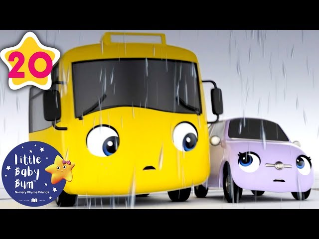 Buster and the storm | Go Buster | Kids Cartoon | Baby Songs |+More Nursery Rhymes | Little Baby Bum