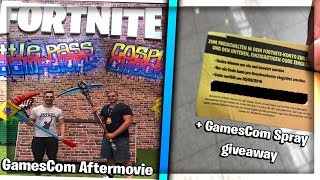 📷🎁 GamesCom 2018 Aftermovie - Fortnite Spray Giveaway ft.