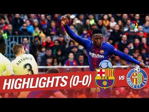 Resumen de FC Barcelona vs Getafe CF (0-0)