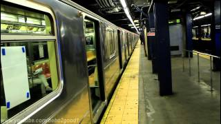 IRT Subway: Uptown & Dowtown (1) (2) (3) trains at Chambers Street (R62/A & R142)