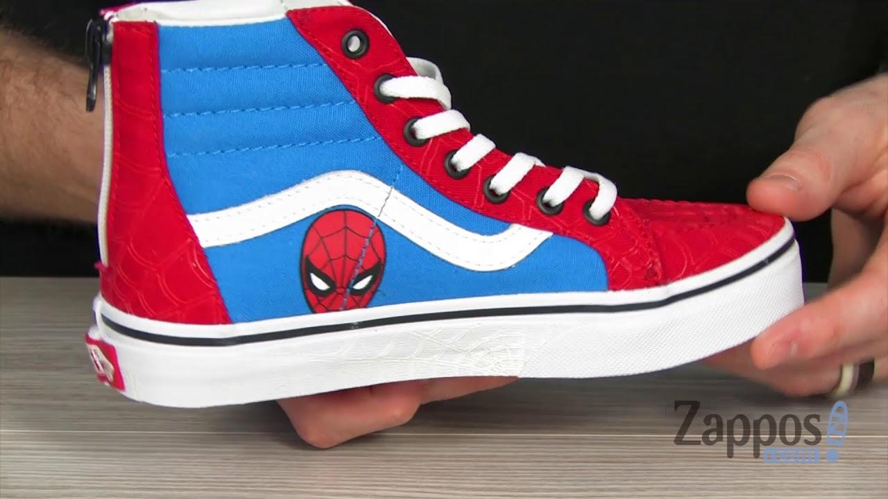 49a4272076640c Vans Kids Vans X Marvel® Sk8-Hi Zip (Little Kid Big Kid) SKU  9063655
