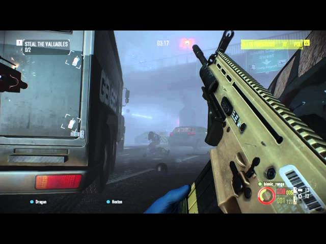 PayDay 2 - PS4 - Armoured Car Hiest - Solo (Normal)