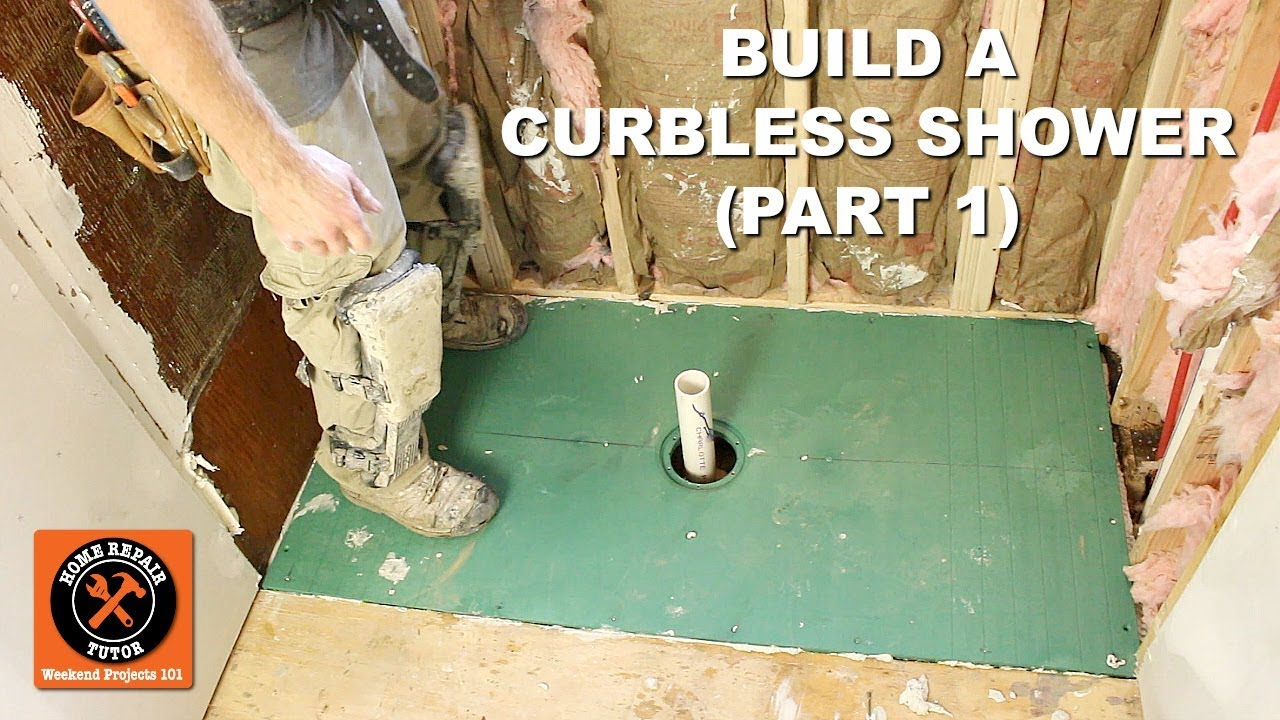 How To Build A Curbless Shower Part 1 Vim Pan Install By Home Repair Tutor