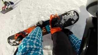 Schmerzhaft Snowboard fahren lernen