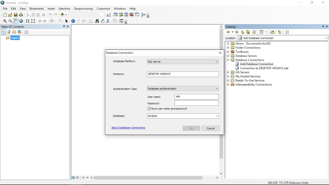 create enterprise geodatabase in ArcGIS