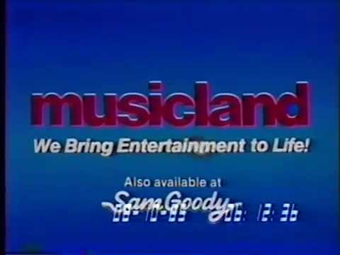 80's Ads: Musicland Music Store Bon Jovi 1985