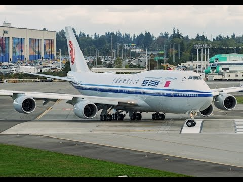Air China's first Boeing 747-8I (B-2485) delivery flight full