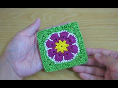 Crochet Tutorial Merajut Granny Square African Flower Youtube