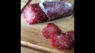 Сыровяленная колбаса из свинины