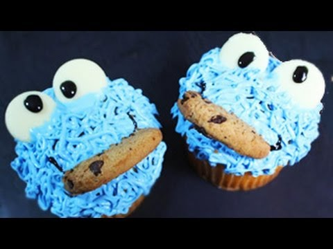 Cupcake Mania | Cookie Monster Cupcakes - YouTube