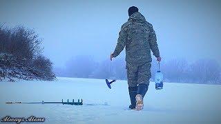 Я просто хотел поймать судака. Разведка одной ямы на реке. Зимняя рыбалка на жерлицы.