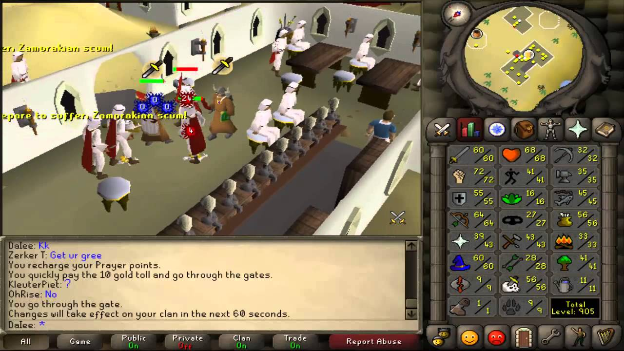 10tabs runescape 2007 1 99 melee training guide youtube for Runescape exp table 1 99