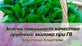 Зелень повышает качество и количество грудного молока при ГВ | Кристина Хлыстова