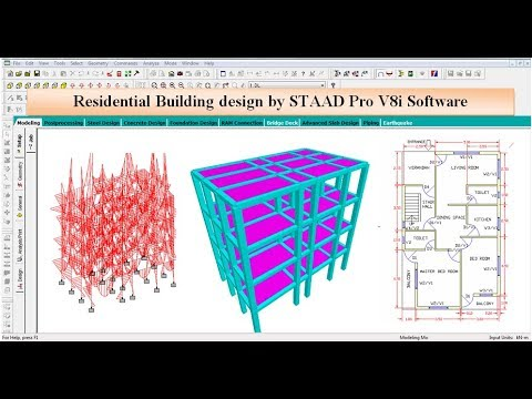 Residential building design by STAAD Pro V8i Software thumbnail
