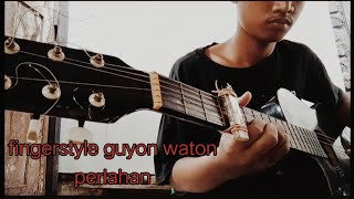 Download Guyon waton-Perlahan fingerstyle gitar dari kunci G||aitong channel