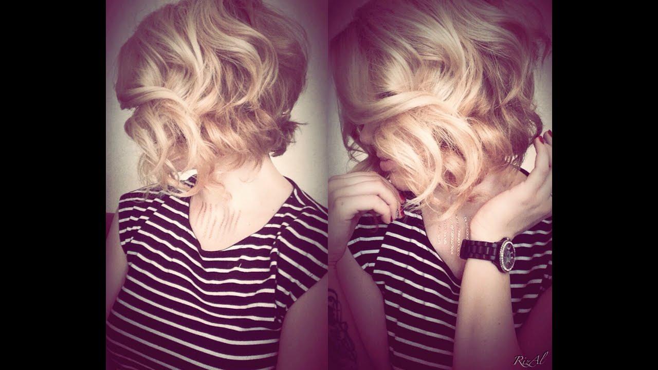 Укладки для волос средней длины локоны фото